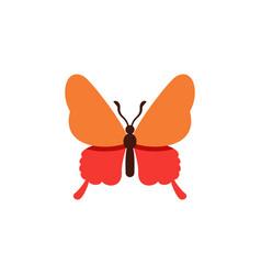 Isolated butterfly flat icon danaus plexippus vector
