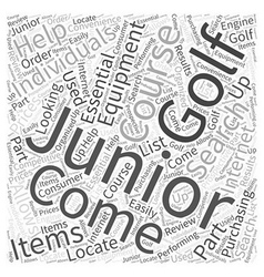 Junior Golf Course Equipment Word Cloud Concept vector