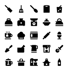 Kitchen Utensils Icons 5 vector image