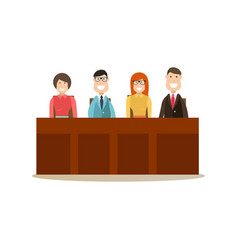 Law court people in flat style vector