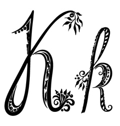 Letter K k vector