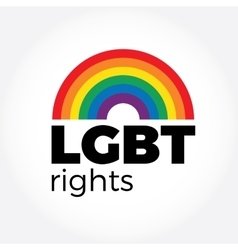 LGBT support symbol in rainbow colors with vector image