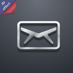 Mail Envelope Message icon symbol 3D style Trendy vector