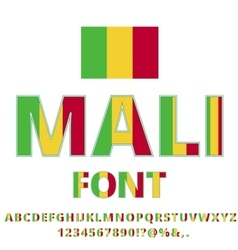Mali Flag Font vector image