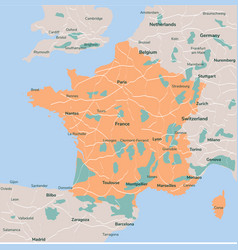 map france isolated eps 10 vector image