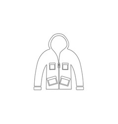 men jacket flat icon vector image