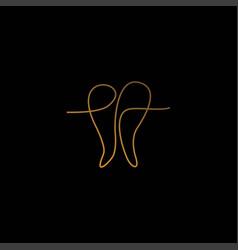 Modern elegant and unique dental icon logo vector