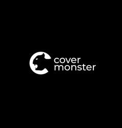 Monster c logo design template vector