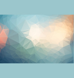 multicolor polygonal which consist of triangles vector image