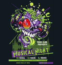 music event flyer banner poster vector image
