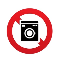 No Washing machine icon Home appliances symbol vector