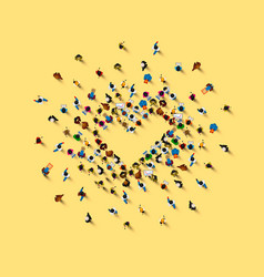 people in heap in form a symbol vector image