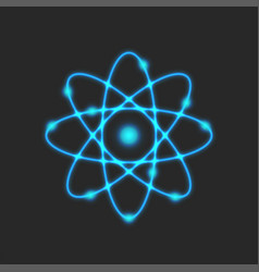 planetary model atom rutherford is atomic vector image