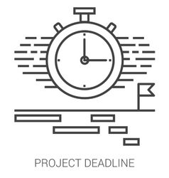 Project deadline line infographic vector image