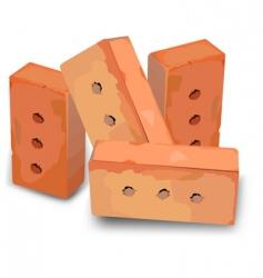 Red bricks vector