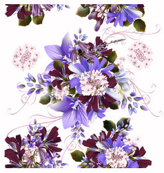 Seamless background or pattern with flowers vector
