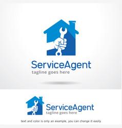 Service house logo template vector