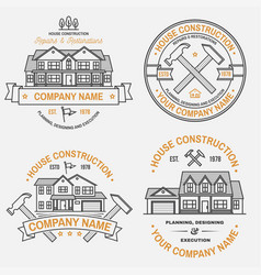 set house construction company identity vector image