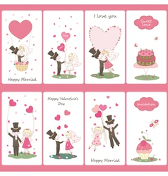 Set of Valentines Day flayers vector image