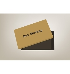Shoes product packaging mock-up box 3 vector image