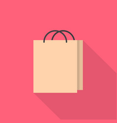 shopping bag icon set of great flat icons with vector image