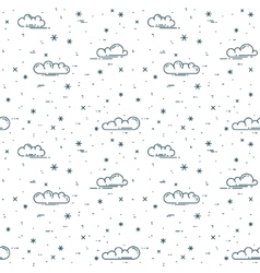 Snow and clouds pattern vector image
