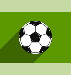 soccer ball icon flat design vector image