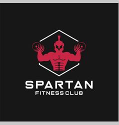 Spartan fitness logo design icon vector