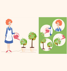 Spring gardening and icons vector