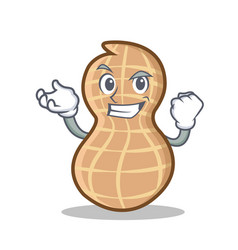 Successful peanut character cartoon style vector