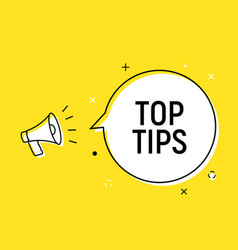 Top tips quick trick reminder advice business icon vector