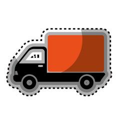 Truck delivery service icon vector