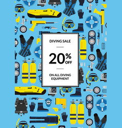 underwater diving equipment sale vector image