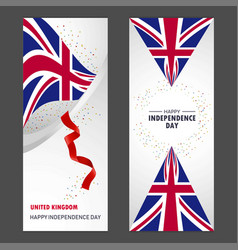 united kingdom happy independence day confetti vector image