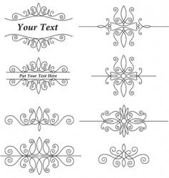 Vintage ornaments set vector