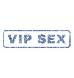 Vip sex textile stamp vector