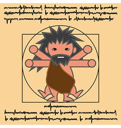 Vitruvian ancient man vector