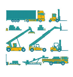 warehouse set vector image