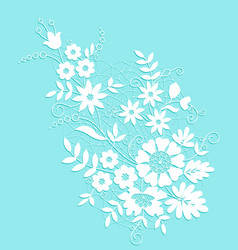 White flower lace vector