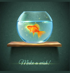 Aquarium On A Shelf Poster vector image