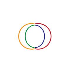 double c letter logo vector image