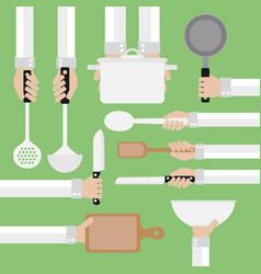 modern design concept flatcooking tools vector image vector image