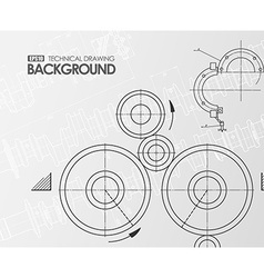 White background with technical drawings vector image