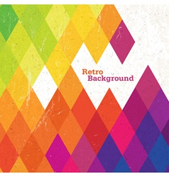 retro rhombus background vector image vector image
