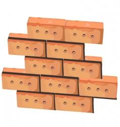wall from bricks vector image vector image