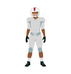 american football player in white black uniform vector image