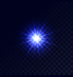 christmas star glow light effect vector image