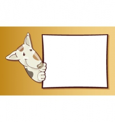 dog with card vector image vector image