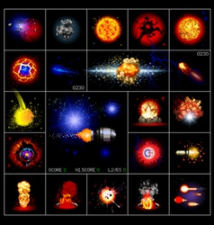 explosions pixels vector image