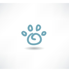 The print icon dog leg vector image vector image